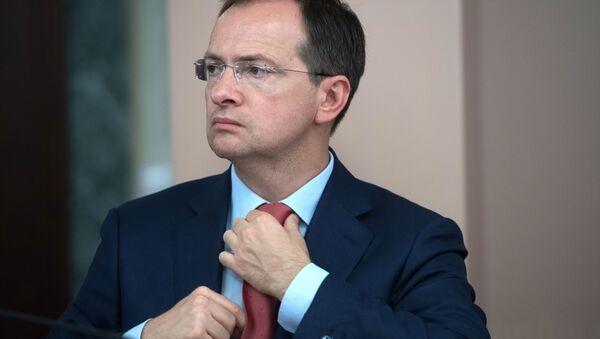 Ruský ministr kultury Vladimir Medinský - Sputnik Česká republika