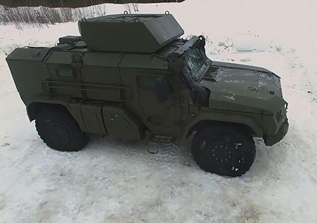 Ruské vojenské obrněné vozidlo Tajfun-VDV
