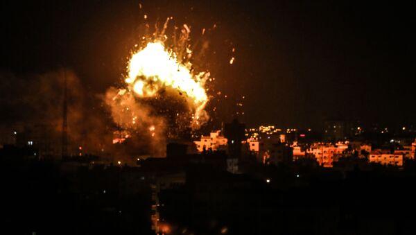 Raketový útok Izraele na Pásmo Gazy. Ilustrační foto - Sputnik Česká republika