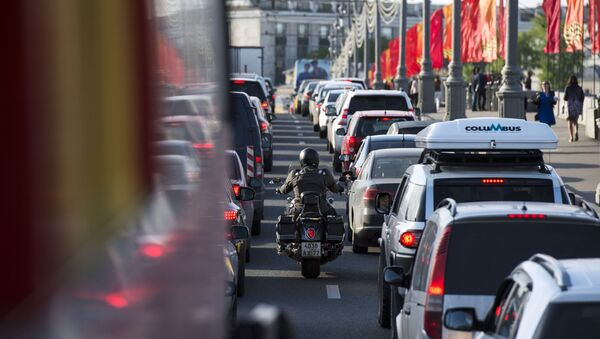 Dopravní zácpa v Moskvě - Sputnik Česká republika