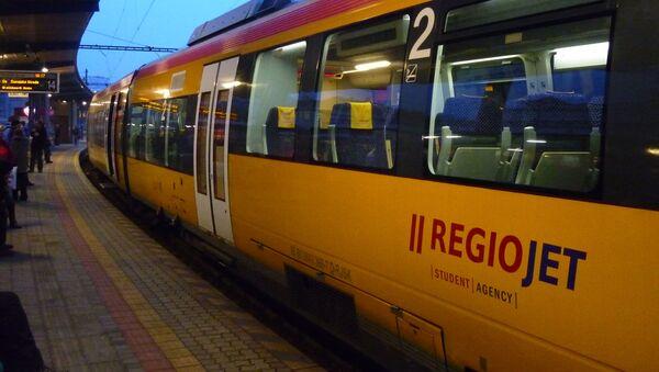 Vlak společnosti Regiojet v Bratislavě - Sputnik Česká republika