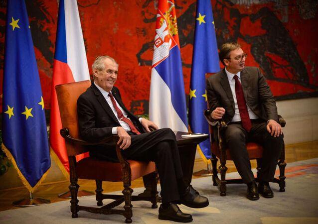 Miloš Zeman a  Aleksandr Vučić