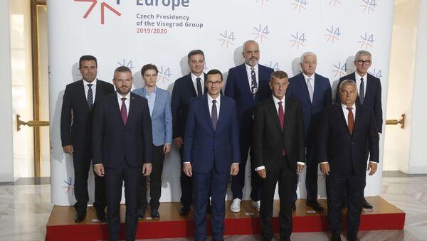 Účastníci summitu V4 v Praze - Sputnik Česká republika