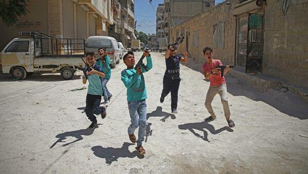 Syrské děti v Idlibu - Sputnik Česká republika