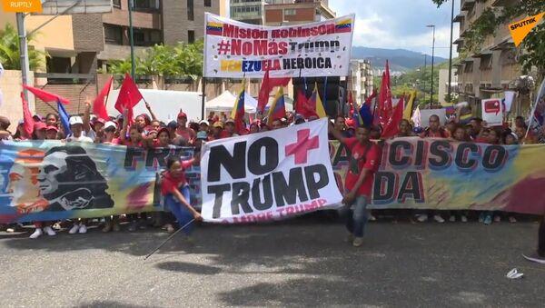 Ve Venezuele tisíce mladých příznivců Madura uspořádali shromáždění - Sputnik Česká republika