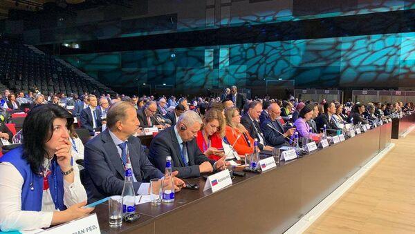 Delegáti 23. zasedání Valného shromáždění Světové organizace cestovního ruchu OSN (UNWTO) - Sputnik Česká republika
