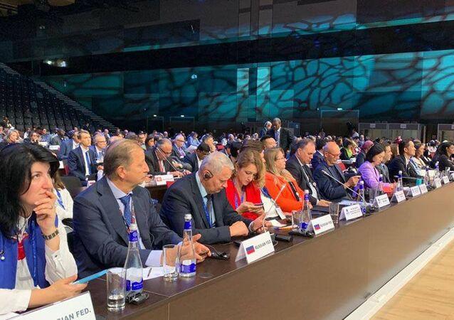 Delegáti 23. zasedání Valného shromáždění Světové organizace cestovního ruchu OSN (UNWTO)