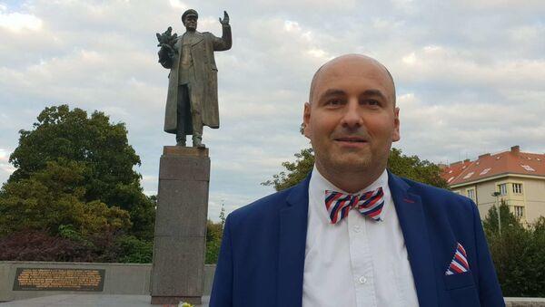 Bc. Robert Vašíček říká, že Praha 11 by mola památník maršála Koněva umístit na svém území - Sputnik Česká republika