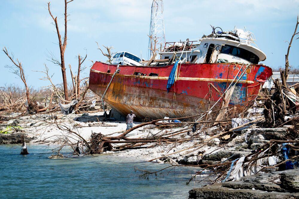 Důsledky hurikánu Dorian na ostrově Abaco, USA.
