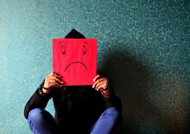 Člověk trpící depresí