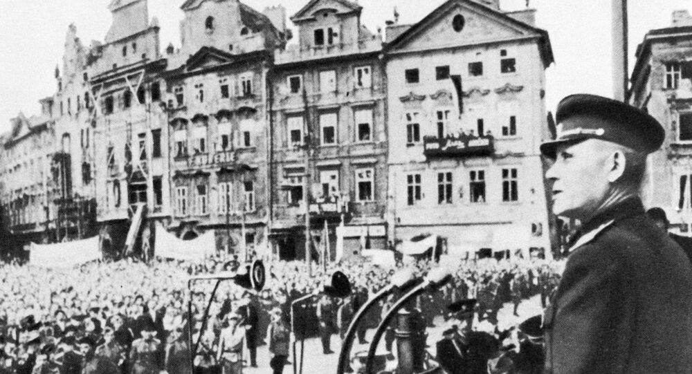 Maršál Ivan Stěpanovič Koněv v Praze