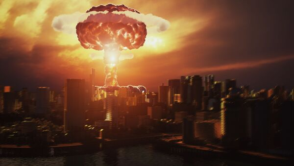 3D vizualizace výbuchu jaderné bomby nad městem - Sputnik Česká republika