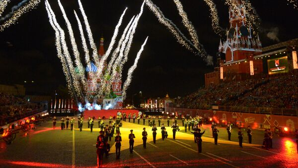 Vojenská hudba z celého světa na festivalu Spasská věž v Moskvě - Sputnik Česká republika