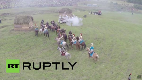 Rusko: Zajímavé záběry rekonstrukce bitvy u Borodina - Sputnik Česká republika