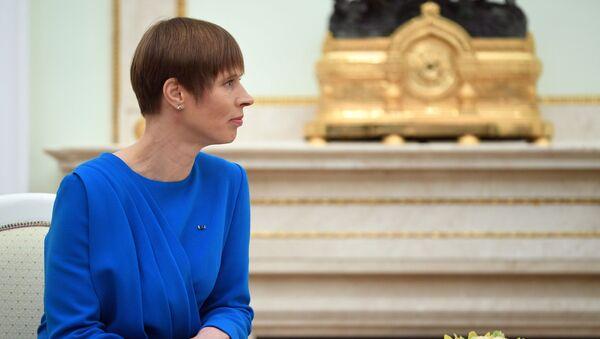 Estonská prezidentka Kersti Kaljulaidová - Sputnik Česká republika