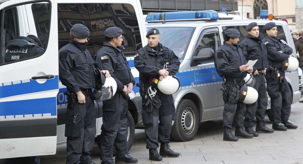 Německá policie v Kolíně nad Rýnem