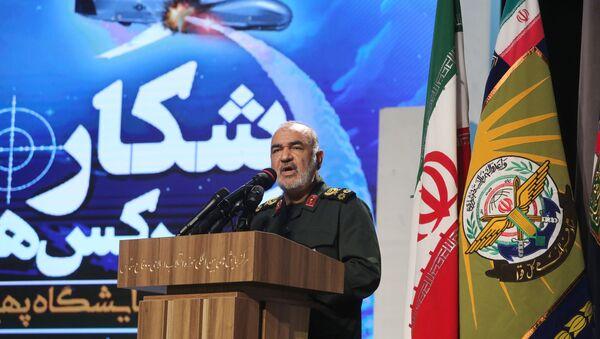 Hossein Salami, velitel sboru islámských revolučních gard (IRGC, součást ozbrojených sil Íránu). - Sputnik Česká republika
