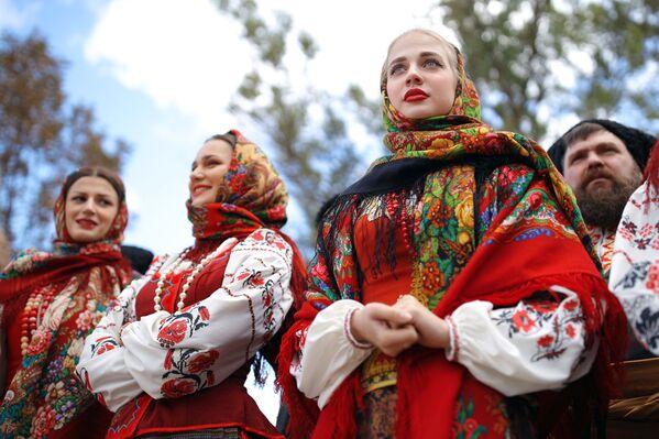 Umělci Kubáňského kozáckého sboru během festivalu - Sputnik Česká republika