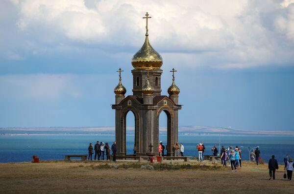 Kaple sv. Ondřeje na území etnografického komplexu Ataman ve vesnici Tamaň - Sputnik Česká republika
