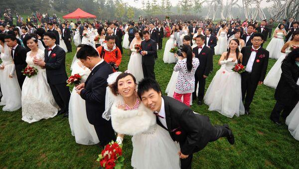 Masová svatba v Číně - Sputnik Česká republika