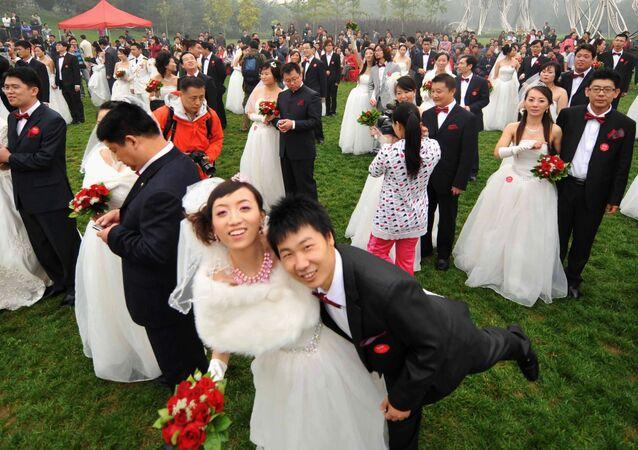 Masová svatba v Číně