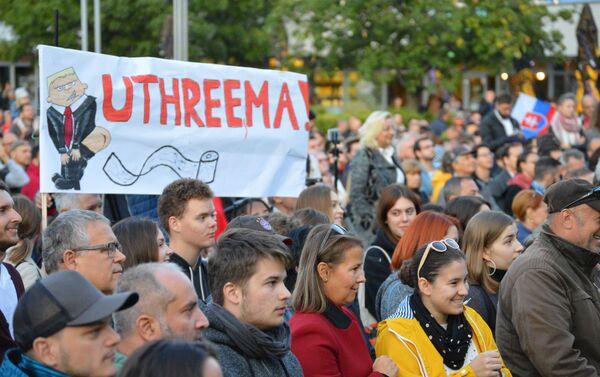 Mítink hnutí Za slušné Slovensko dne 20. září v Bratislavě - Sputnik Česká republika