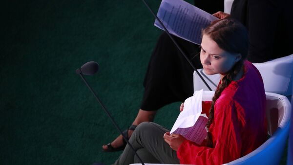 Švédská aktivista Greta Thunbergová na klimatickém summitu OSN - Sputnik Česká republika