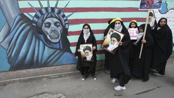 Mítink proti USA v Teheránu - Sputnik Česká republika