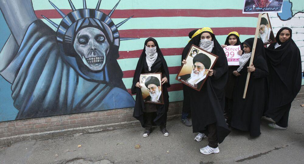 Mítink proti USA v Teheránu