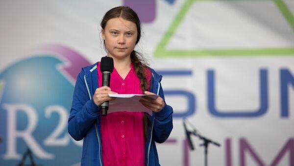 Ekologická aktivistka Greta Thunbergová - Sputnik Česká republika