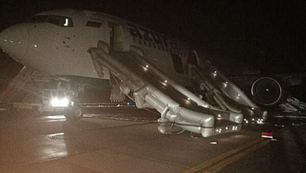 Boeing 767-300 společnosti Azur Air Airlines letící z Vietnamu ve středu večer tvrdě přistál v ruském městě Barnaul - Sputnik Česká republika