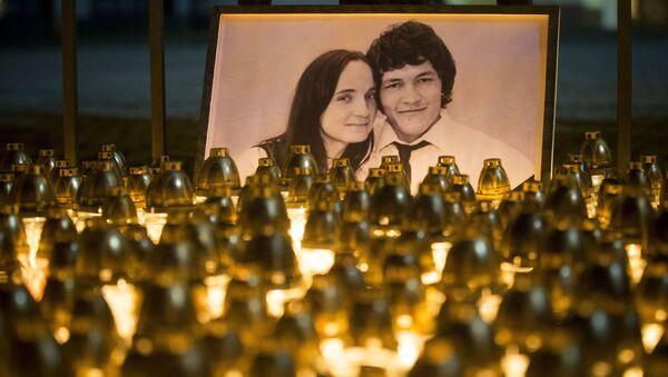 Během tiché demonstrace na památku zavražděného novináře Jána Kuciaka - Sputnik Česká republika