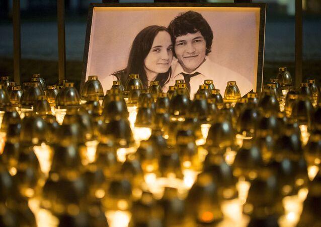 Vzpomínka na zavražděného novináře Jána Kuciaka a jeho snoubenky Martiny Kušnírové
