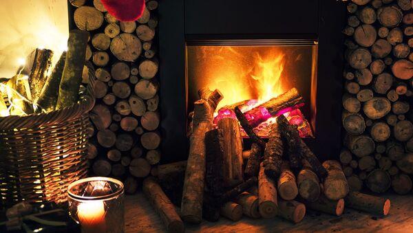 Hořící dřevo v krbu. Ilustrační foto - Sputnik Česká republika