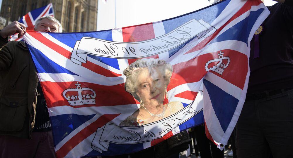 Příznivci brexitu v Londýně