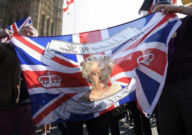 Akce příznivců Brexitu v Londýně. Ilustrační foto