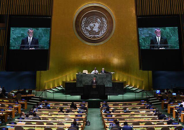 Vystoupení českého premiéra Andreje Babiše na Valném shromáždění v OSN