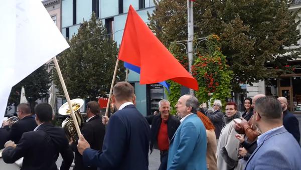 Průvod Trikolóry v Brně - Sputnik Česká republika