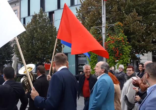 Průvod Trikolóry v Brně