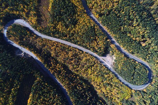 Federální dálnice P257 Jenisej v blízkosti Krasnojarsku - Sputnik Česká republika