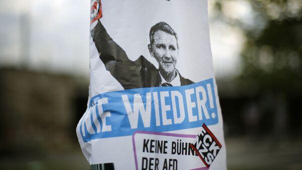 předseda krajské pobočky nacionalistické strany Alternativa pro Německo (AfD) Björn Höcke  - Sputnik Česká republika