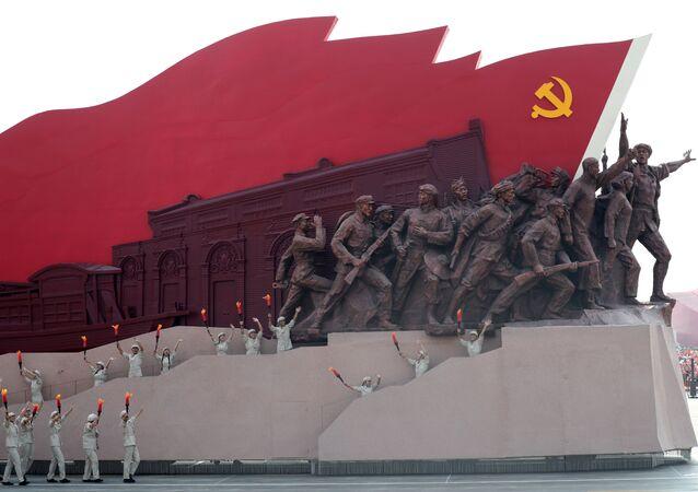 Vojenská přehlídka na počet 70. výročí vzniku ČLR v Pekingu (1. 10. 2019)