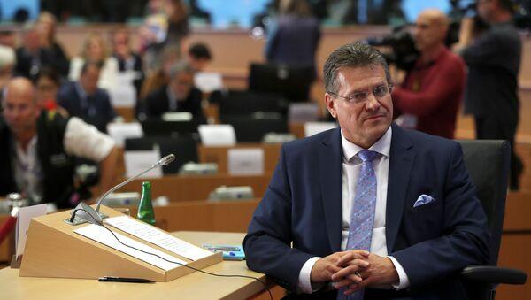 """Šefčovič během """"grilování"""" v europarlamentu: V otázce Istanbulské úmluvy podporuji von der Leyenovou - Sputnik Česká republika"""
