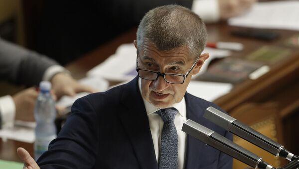 Český premiér Andrej Babiš v Praze - Sputnik Česká republika