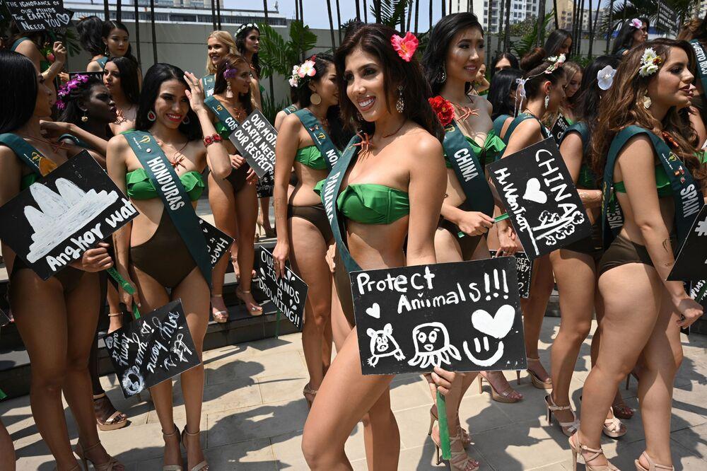 Účastnice soutěže krásy Miss Earth 2019 z Panamy.