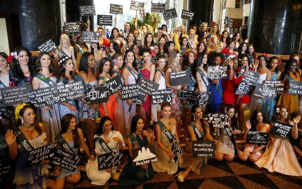 Pětaosmdesát krásek z celého světa bude soupeřit o titul Miss Earth 2019. Finále proběhne dne 26. října ve městě Naga, poblíž Manily. - Sputnik Česká republika