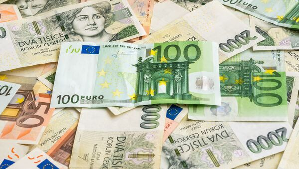 Eura a české koruny - Sputnik Česká republika