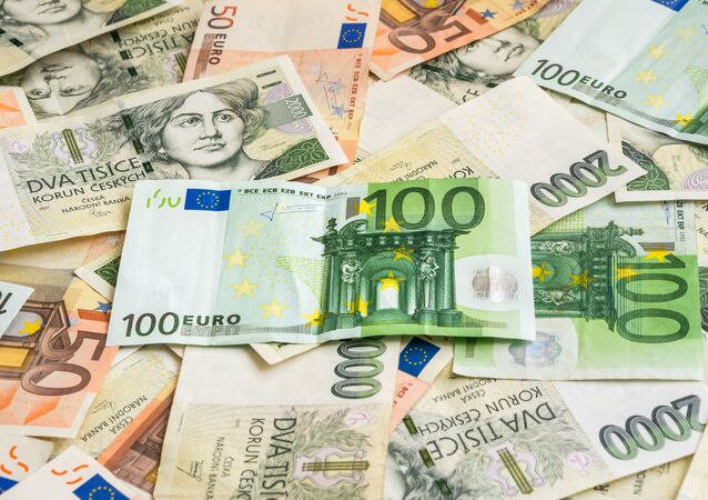 Euro vs. česká koruna.