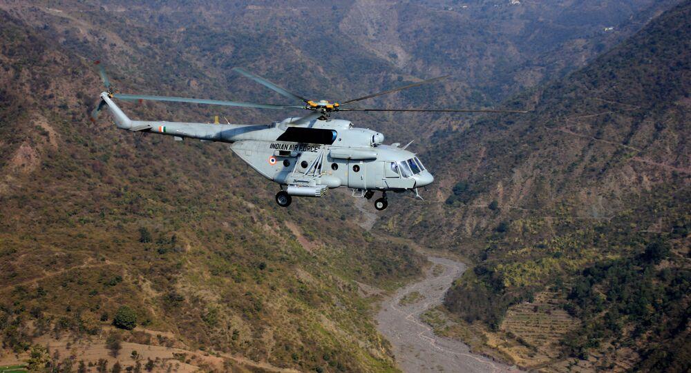 Vrtulník Mi-17 indického letectva