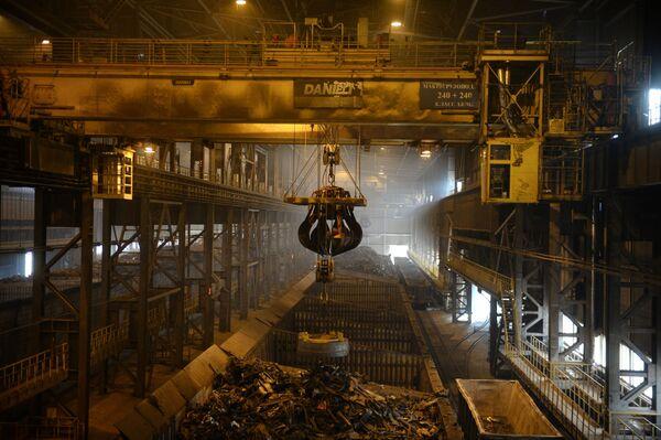 Cech výroby oceli v Severském potrubním závodu. - Sputnik Česká republika